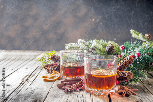 Photo Christmas winter alcohol drink