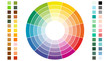Color scheme. Circular color scheme with warm and cold colors. Vector illustration of a color