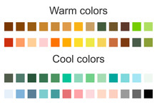 Color Scheme. Warm And Cold Colors. Flat Vector