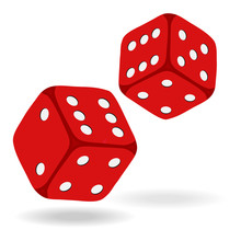 Game Dice In Flight. Casino Di...