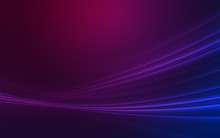 Dark Abstract Background With Neon Lines, Glow.