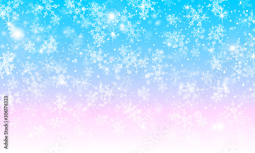 Magical background. Winter snow. Vector