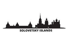 Russia, Solovetsky Islands City Skyline Isolated Vector Illustration. Russia, Solovetsky Islands Travel Cityscape With Landmarks