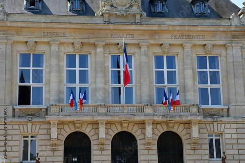 Vászonkép Vernon, France - july 27 2018 : town hall