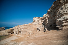 Kantarkasti (Sea Caves) Is An Amazing Miracle Of Nature On The West Coast Of Cyprus.
