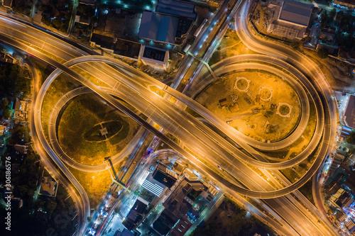 Road traffic in city at thailand . Wallpaper Mural