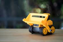 Yellow Toy Bulldozer