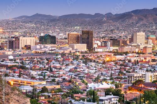 Obrazy miasto  el-paso-teksas-usa-panorame-miasta-o-zmierzchu