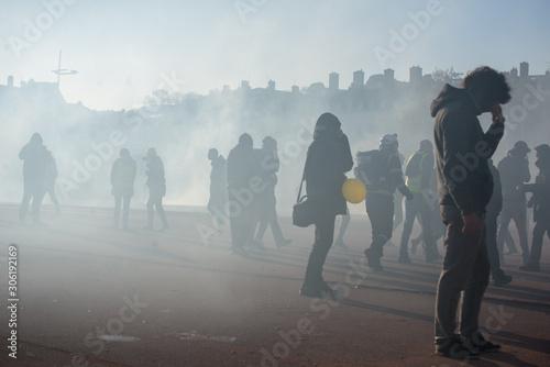 Fotografiet Manifestation des Gilets Jaunes Lyon 2019