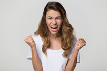 Angry Mad Hysterical Woman Screaming, Negative Emotions