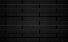 Dark Brick Wall Background. Abstract Geometric Seamless Pattern. Vector Illustration. Eps 10