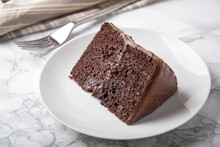 American Traditional Chocolate Cake Coated With Icing