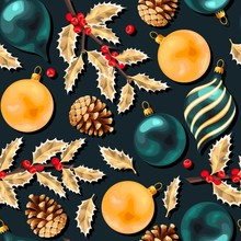 Vector Seamless Pattern With V...