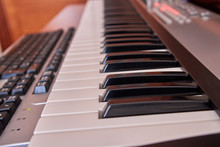 Audio Home Studio Equipped With Midi Keyboard