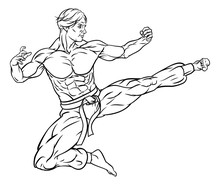 An Illustration Of A Kung Fu O...