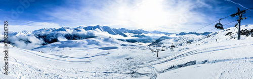 Fotomural panoramic picture of bettmeralp ski area