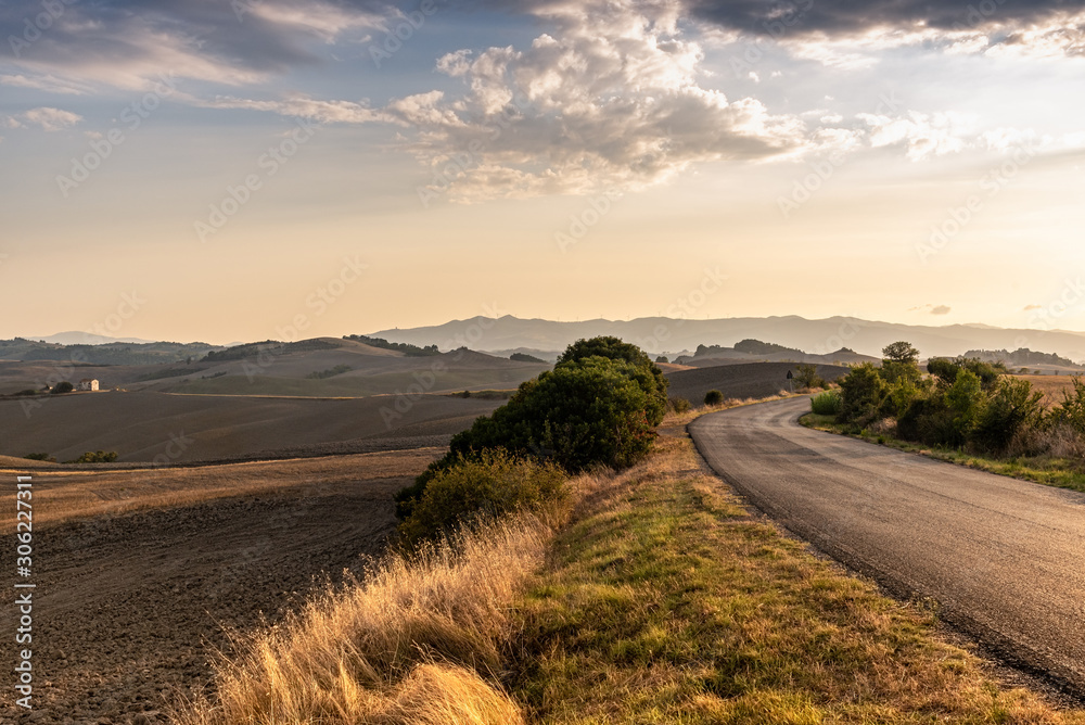 Summer landscape view from Tuscany Italy Panorama