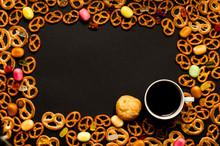 Cup Of Coffee Among Pile Of Va...