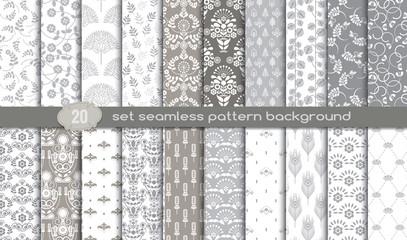 Beautiful Geometric Seamless Patterns Set