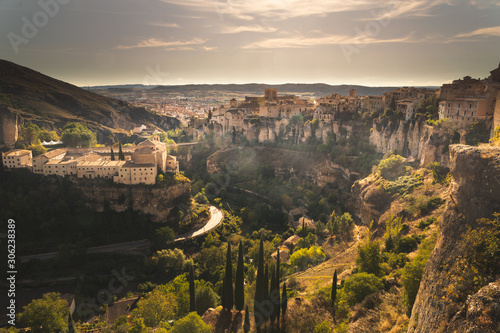 View from Cuenca capital at the Castilla-La Mancha region in Spain.