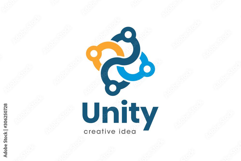 Fototapeta Creative Unity Concept Logo Design Template