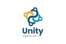 Creative Unity Concept Logo De...