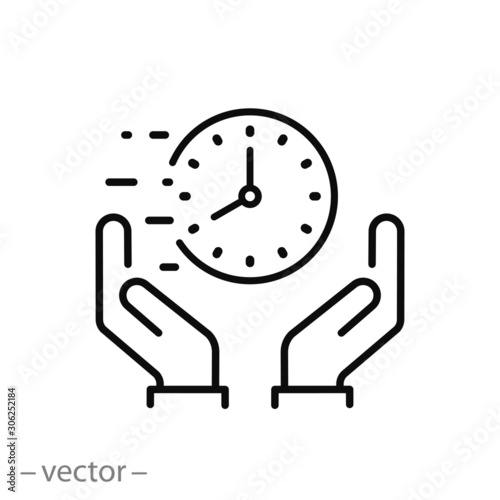 value save time icon, execute in fast deadline, quick designated, rapid thin lin Fototapete