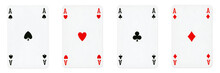 Four Aces Playing Cards - Isol...