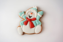 Gingerbread Cookie Snowman Sug...