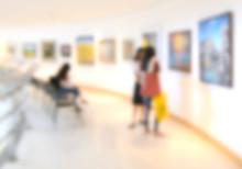 Art Exhibition Gallery Blurry ...