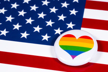 LGBTQ Rainbow Heart And The US...