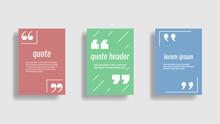 Set Of Quote Frames. A4 Citati...