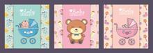 Baby Shower Pram Bear Banners ...
