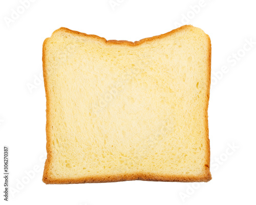 Fototapeta toast wheat bread sliced isolated on white background. obraz