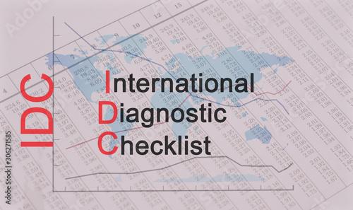 Valokuvatapetti Acronym IDC - International Diagnostic Checklist