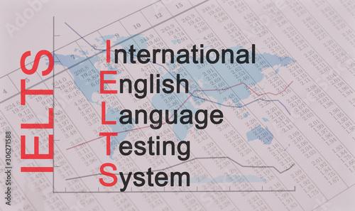Acronym IELTS - International English Language Testing System Canvas Print