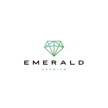 Emerald Diamond Logo Vector Icon Illustration