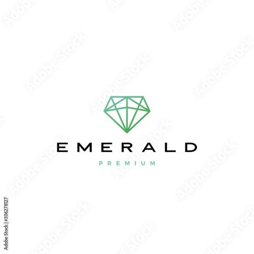 Photo emerald diamond logo vector icon illustration