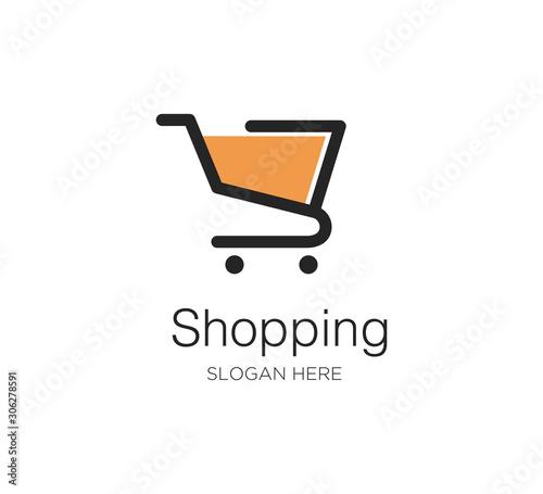 Fotografija shopping cart vector logo concept design template