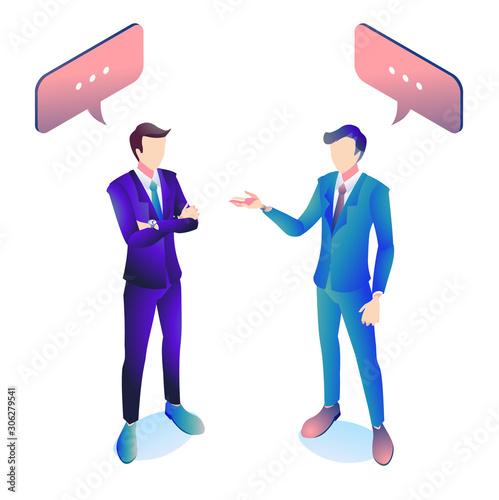 会話をしている2人のビジネスマン。 Canvas Print