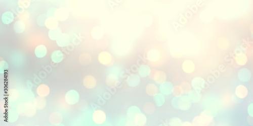 Fototapeta Bokeh yellow blue pastel texture blurred. Empty holiday background glitter. Defocused pattern abstract template garland lights. obraz na płótnie