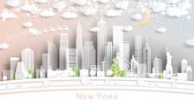 New York USA City Skyline In P...
