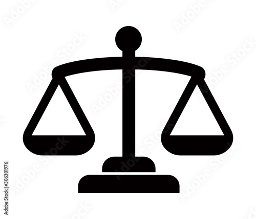 Fotomural  Balance, judge, scale, court icon