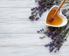 Bowl Of Honey With Lavender