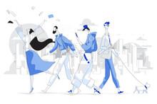 Modern Style Illustration Of U...