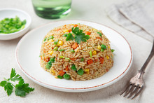 Fried Rice With Vegetables On ...