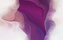 Abstract Waves Design With Old Mauve, Light Gray And Antique Fuchsia Color