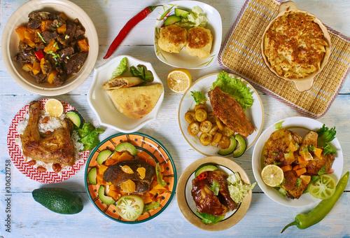 Caribbean cuisine Slika na platnu