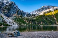 Beautiful View Of Lake With Hi...