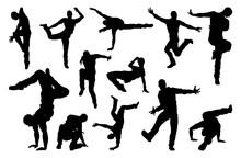A Set Of Male Street Dance Hip...